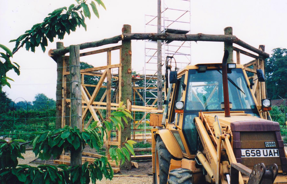 Houghton-fruit-cage-construction